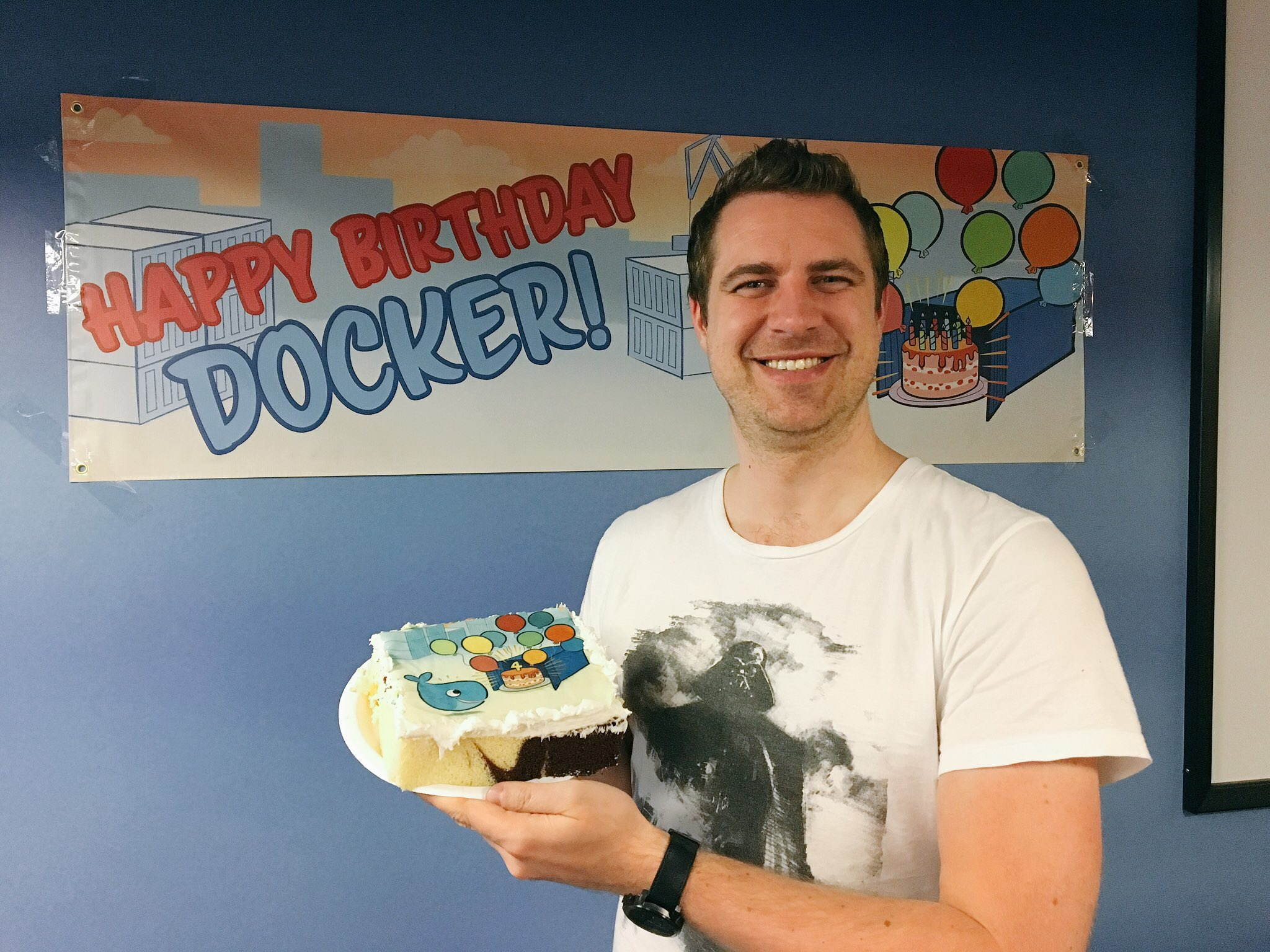 Docker Birthday Cake Slice